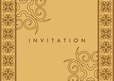 karciany zaproszenie Obraz Royalty Free