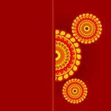 karciany zaproszenie sprzedaży mandala Zdjęcia Stock