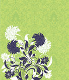 karciany zielony zaproszenie Zdjęcia Stock