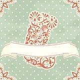 karcianych bożych narodzeń karciany pończochy rocznik Fotografia Royalty Free