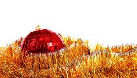 karcianych bożych narodzeń lustrzana czerwona sfera Obrazy Stock
