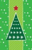 karcianych bożych narodzeń nowy drzewny rok Obraz Royalty Free