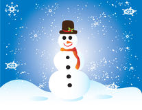 karcianych bożych narodzeń ramowy prezenta śniegu bałwan Zdjęcia Stock