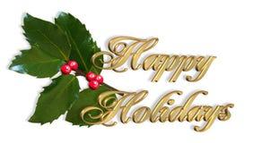 karcianych bożych narodzeń szczęśliwi wakacje prości Zdjęcia Royalty Free