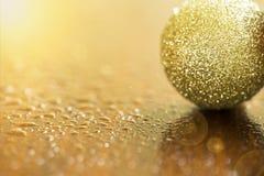 karcianych bożych narodzeń złoty powitanie Zdjęcie Royalty Free