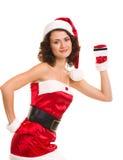 karcianych Claus ubrań kredytowa Santa kobieta Obraz Royalty Free