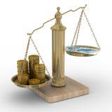 karcianych monet kredytowe skala Obrazy Stock