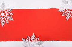 karcianych płatków śniegów astronautyczny tekst Fotografia Royalty Free