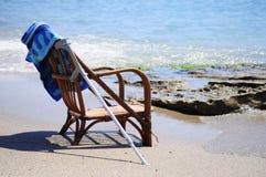 Kardamaina. Kos. Zia. Cadeira. Mar Imagem de Stock