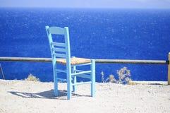 Kardamaina. Kos. Zia. Cadeira. Mar Imagens de Stock Royalty Free