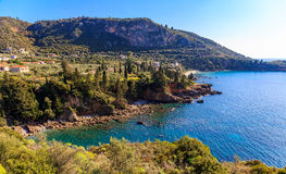 Kardamyli village in Messenia, Peloponnese Royalty Free Stock Images