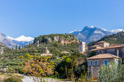 Kardamyli village in Messenia, Peloponnese Stock Images