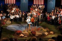 Kardan på podiet, Romney samlar Arkivbild