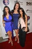 kardashian kim kourtney Fotografering för Bildbyråer