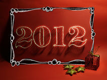 Kardieren Sie für Weihnachten 2012 Lizenzfreies Stockfoto