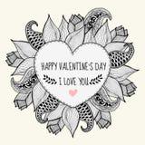 Kardieren Sie ich liebe dich für Valentinsgrußtag Stockbild