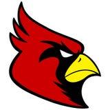 Kardinal Sports Mascot Arkivbild