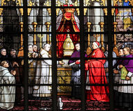 Kardinal und das Sakrament des Wunders Lizenzfreie Stockfotos