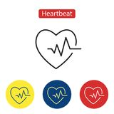 Kardiogram ikona Kierowa ikona z szyldowym biciem serca ilustracja wektor