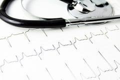 kardiograma stetoskop Zdjęcie Stock