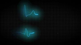 Kardiograma zdrowy serce i kardiogram choroby serce ilustracji