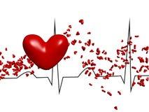Kardiogramm mit Herzen Lizenzfreie Stockfotografie