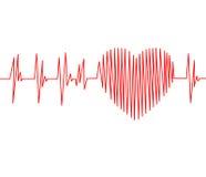 Kardiogrammimpulsspur und -herz Lizenzfreie Stockbilder