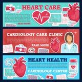 Kardiologii medycyny sztandar dla kierowego ośrodka zdrowia ilustracji