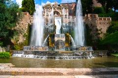 Kardynała Ippolito II d'Este willi ogródu fontanna Fotografia Royalty Free