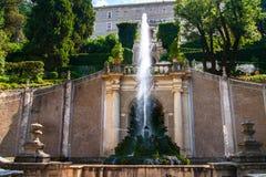Kardynała Ippolito II d'Este willi ogródu fontanna Zdjęcie Royalty Free