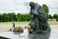 Kardynal statua Stefan Wyszynski Zdjęcia Royalty Free