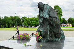 Kardynal Stefan Wyszynski statue Royalty Free Stock Photos