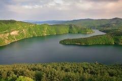 Kardzhali reservoir. In Rodopi mountain in Bulgaria royalty free stock photos