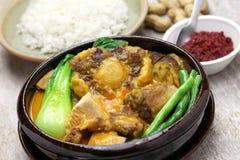 Kare kare,菲律宾牛尾炖煮的食物 库存照片