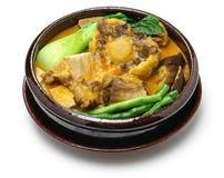 Kare-kare, philippinisches Ochsenschwanzeintopfgericht Lizenzfreies Stockbild