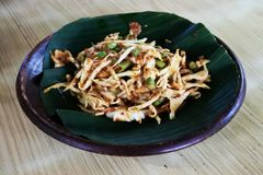 Karedok, a typical Indonesian food made from fresh mixed vegetables. With peanut sauce and brown sugar stock images