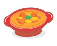 Karee de la sopa del Bowlful Fotografía de archivo libre de regalías