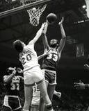 Kareem Abdul-Jabbar, Los Ángeles Lakers imágenes de archivo libres de regalías