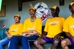 Kareem Abdul-Jabbar, Smokey Robinson and James Worthy Stock Image