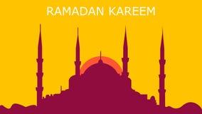 Kareem del fondo del Ramad?n con la mezquita ilustración del vector