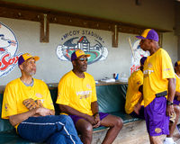 Kareem, James Worthy and Jeffrey Osborne. Royalty Free Stock Photography