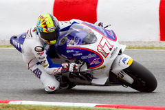 Karel Abraham racing at Catalunya Circuit Stock Image