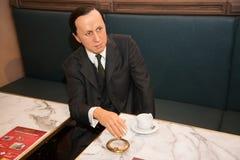 Karel Capek in Grevin museum of the wax figures in Prague. Stock Images