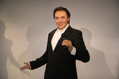 Karel Gott in Grevin museum of the wax figures in Prague. Royalty Free Stock Photos