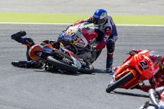KAREL HANIKA accident. Moto 3. Royalty Free Stock Photos