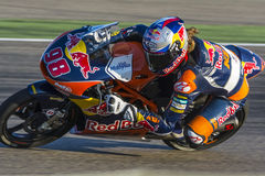 Karel Hanika Moto3 Grand Prix Movistar Aragà ³ ν Στοκ Εικόνα