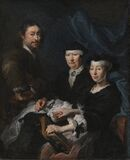 Karel van Mander III, The Artist with his Family. kms3814 Royalty Free Stock Photography