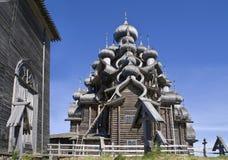 Karelië. Kizhi. De kerk van Preobrazhenskiy Royalty-vrije Stock Foto