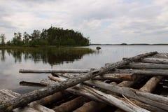 Karelia湖海岸 库存图片