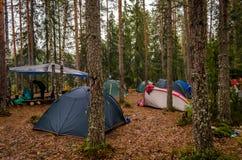 Karelia camping Obraz Royalty Free